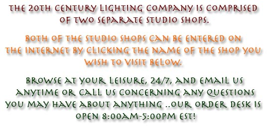 The 20th Century Lighting Co Specializing In Reproduction